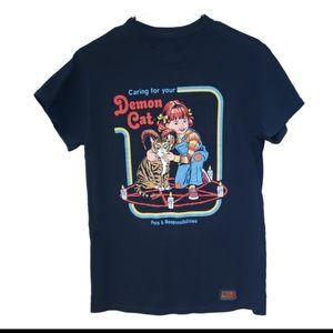 """Official Steven Rhodes """"Demon Cat"""" T-Shirt"""